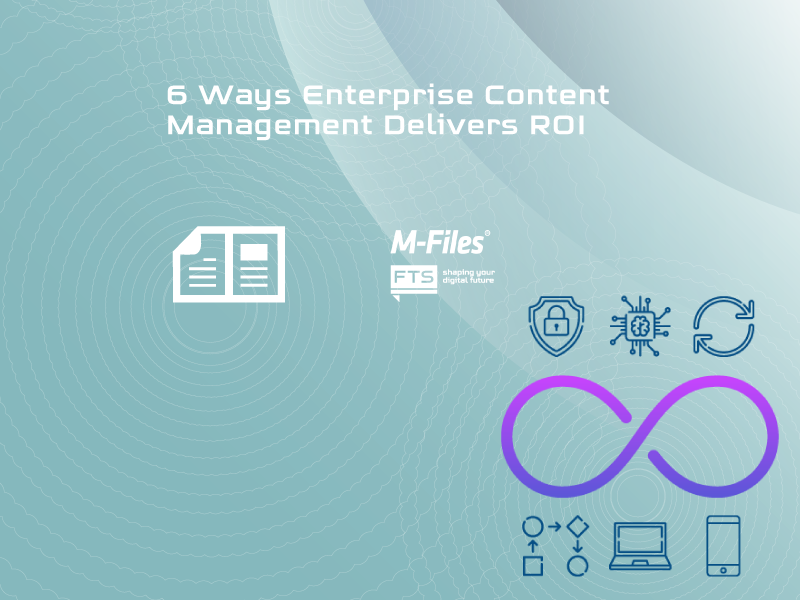 Picture to the ebook on 6 ways Enterprise Content Management delivers ROI