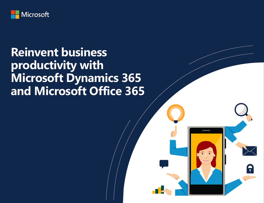 Picture to the Ebook Reinvent Business Productivity with Dynamics 365 Business Central and Office 365