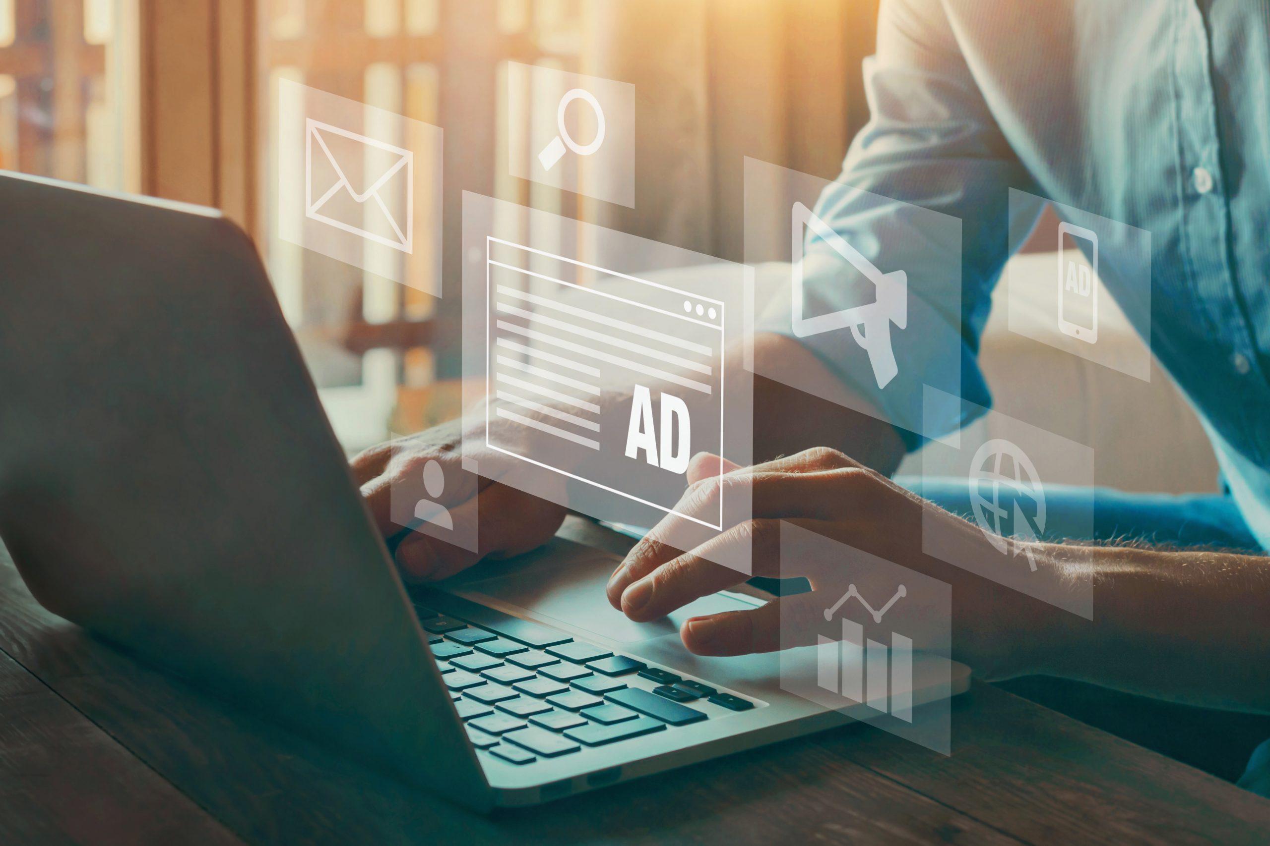 digital marketing concept, online advertisement